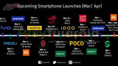 صورة ننشُر الإصدارات الجديد للهواتف الذكية المتوقعة في مارس وأبريل 2021