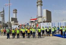 """صورة افتتاح محطة السماوة للطاقة الكهربائية بالعراق بتنفيذ """"جنرال إلكتريك"""""""