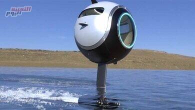 صورة مركبة على شكل كرة يمكنها السير والغوض والطيران أيضاً