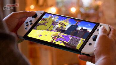 صورة طرح وحدة تحكم ألعاب Nintendo Switch OLED الجديدة